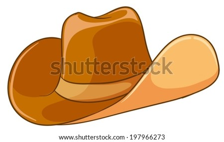Illustration of a brown hat on a white background
