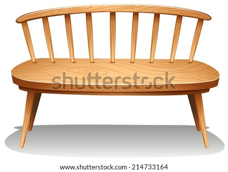 Illustration of a brown wooden furniture on a white background - stock vector