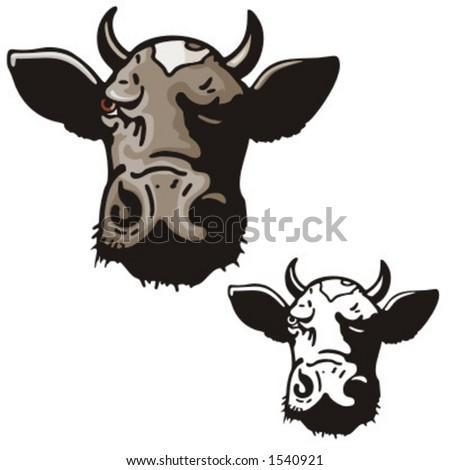 Illustration of a bull. - stock vector