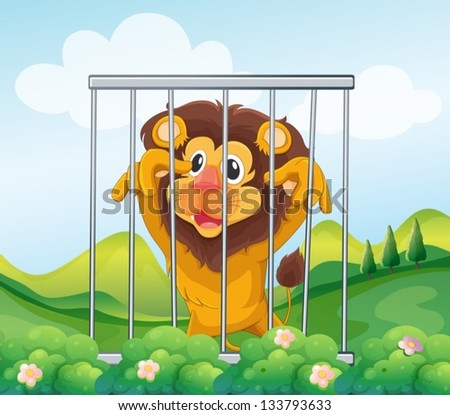 Lion Cage Stock Images Royalty Free Images Amp Vectors
