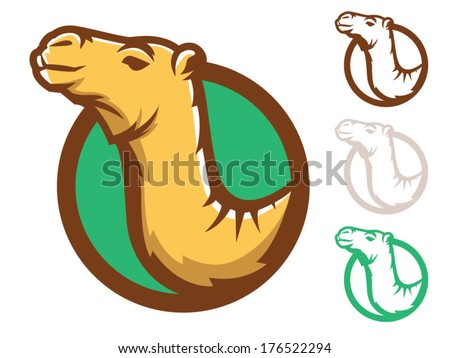 Illustration of a camel face in a circle/Camel Vector