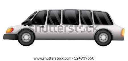 Illustration of a car with a tinted glass on a white background