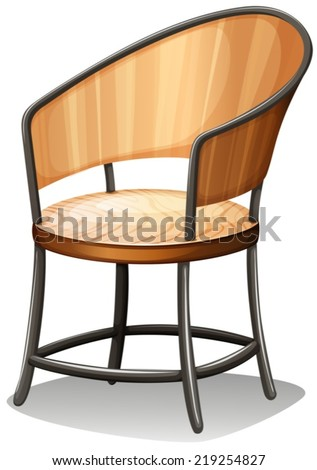 Illustration of a chair furniture on a white background