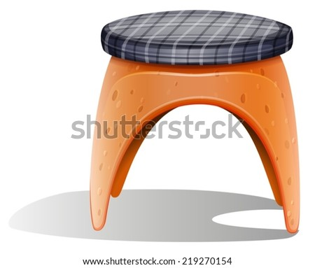 Illustration of a chair furniture on a white background   - stock vector