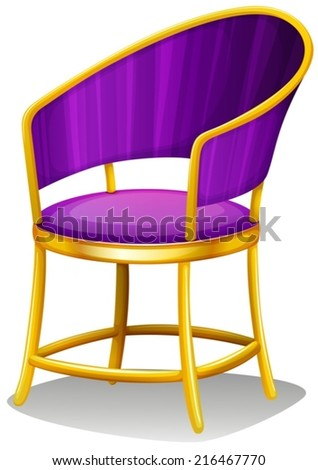 Illustration of a chair on a white background - stock vector