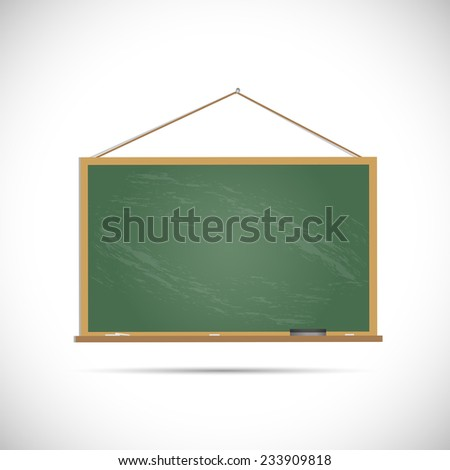 Illustration of a chalkboard isolated on a white background. - stock vector