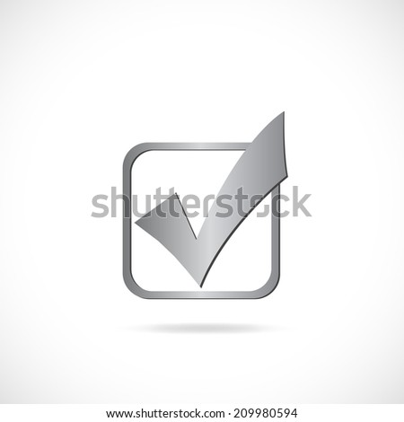 Illustration of a checkmark isolated on a white background. - stock vector