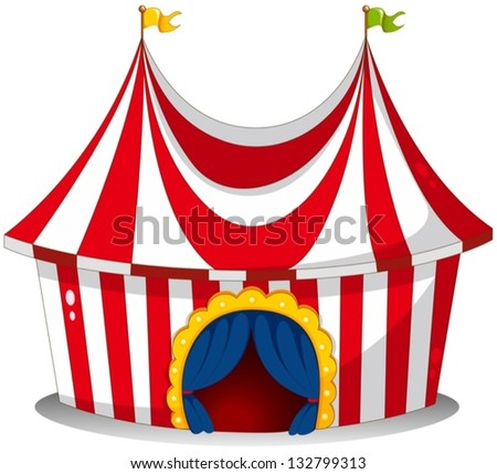 Illustration of a circus tent on a white background  sc 1 st  Shutterstock & Cartoon Circus Tents Stock Images Royalty-Free Images u0026 Vectors ...