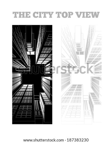 Illustration of a city - stock vector