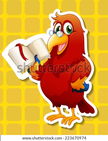 Illustration of a close up bird - stock vector