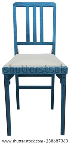 Illustration of a close up blue chair