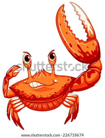 illustration of a close up crab - stock vector