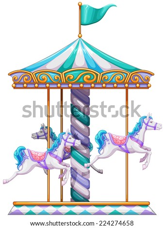 Illustration of a close up merry go round - stock vector