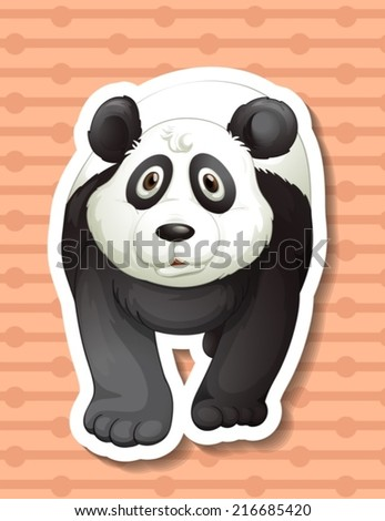 Illustration of a closeup panda  - stock vector