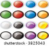 Illustration of a collection of colored buttons with two bevel color variations - stock vector