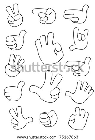 illustration of a collection of gestures outlined