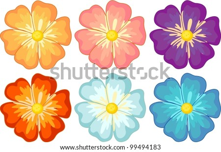 Illustration of a collection of isolated flowers
