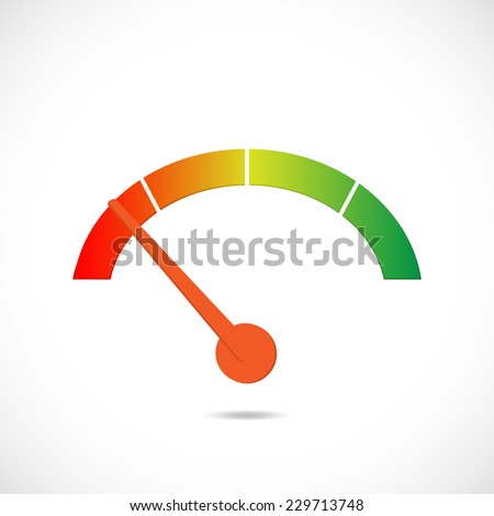 Illustration of a colorful gas gage design isolated on a white background. - stock vector