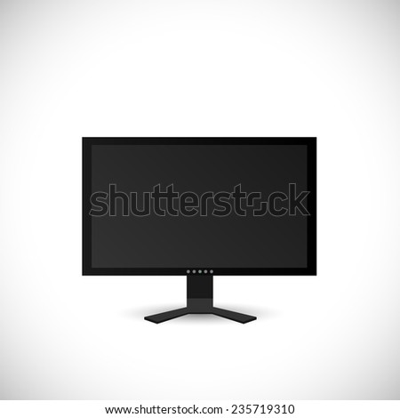 Illustration of a computer screen isolated on a white background. - stock vector