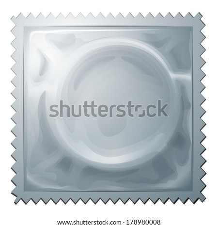 Illustration of a condom on a white background