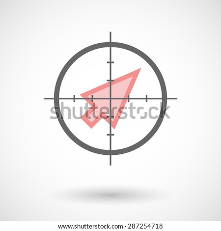 Illustration of a crosshair icon targeting a cursor - stock vector