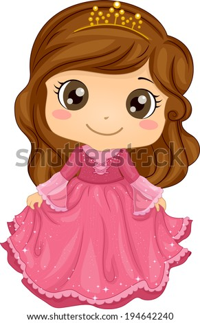 Little Princess Cartoon Stock Images Royalty Free Images