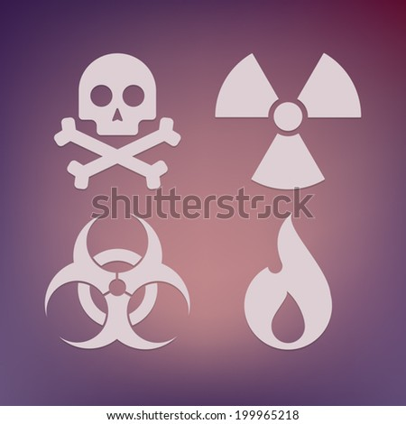 Illustration of a danger icon set - stock vector