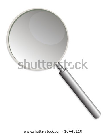 Illustration of a detailed magnifying glass