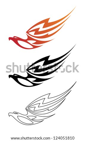 illustration of a eagle fire - stock vector
