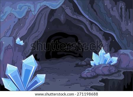 Illustration of a fairy cave - stock vector