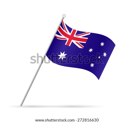 Illustration of a flag from Australia isolated on a white background. - stock vector