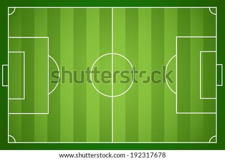 Illustration of a football field. Vector. - stock vector