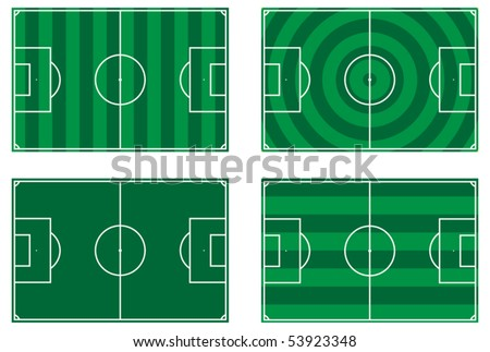 illustration of a football pitch - vector - eps 10 - stock vector