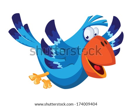illustration of a funny bird - stock vector