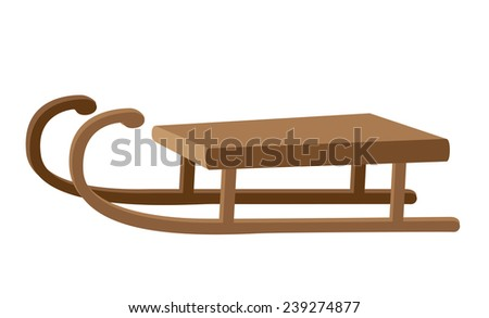 illustration of a funny sled