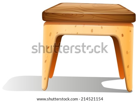 Illustration of a furniture on a white background - stock vector