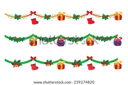 illustration of a garland big - stock vector