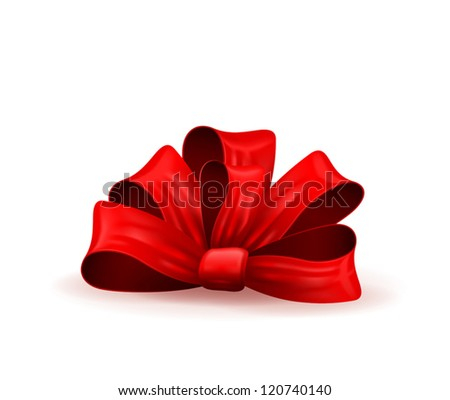 illustration of a gift bow - stock vector