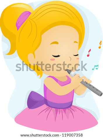 Girl Playing Flute Stock Images, Royalty-Free Images ...