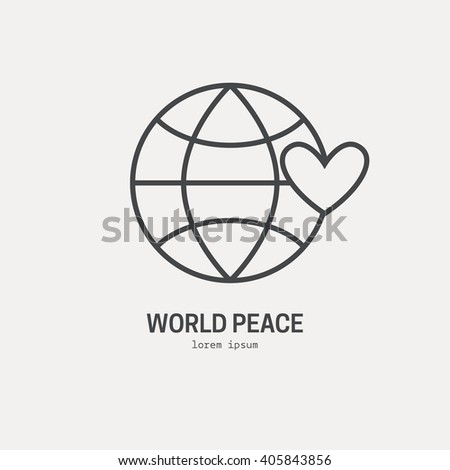 Illustration Globe Heart Logo Nonprofit Organization Stock Vector