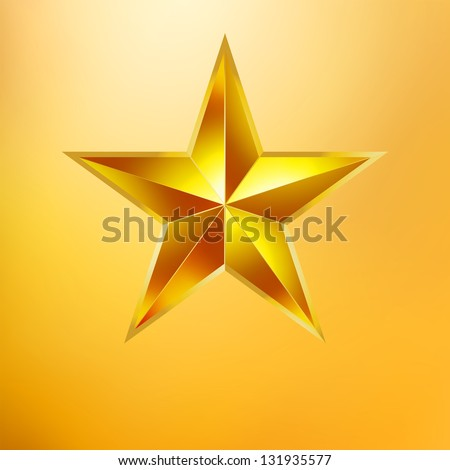 Illustration of a Gold star on gold background. EPS 8 vector file included