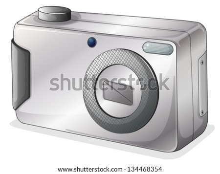 Illustration of a gray camera on a white background