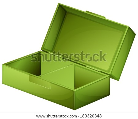 Illustration of a green medical box on a white background
