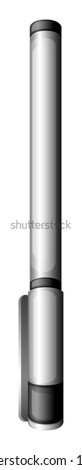 Illustration of a grey marker on a white background
