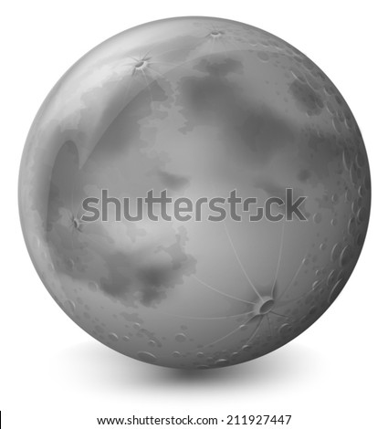 Illustration of a grey planet on a white background