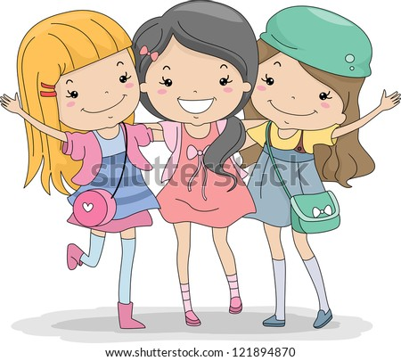 Best Friends Girls Stock Images Royalty Free Images