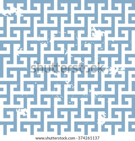 illustration of a grungy greek style background pattern, eps10 vector