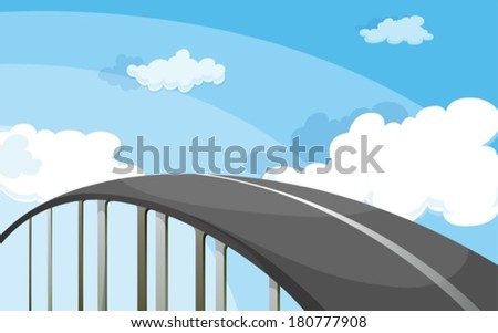 Illustration of a highway - stock vector