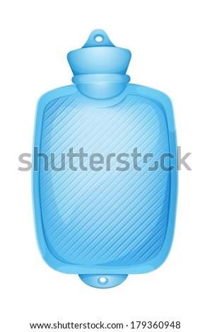 Illustration of a hot bag on a white background - stock vector