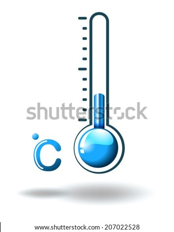 Illustration of a hot weather on a white background